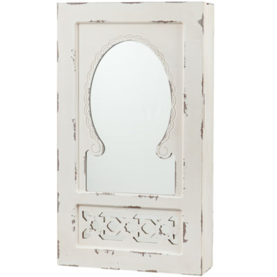 Cottman Shabby Chic Wall-Mounted Jewelry Mirror