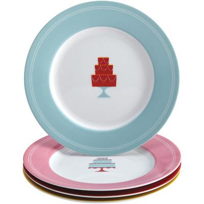 Cake Boss™ Set of 4 Porcelain Dessert Plates - Mini Cakes
