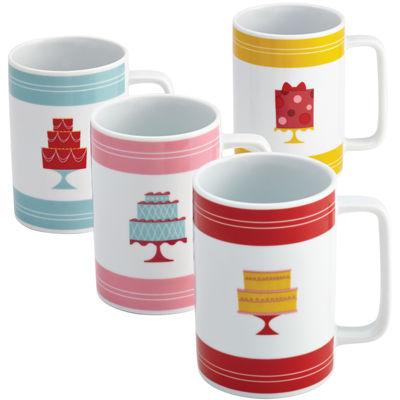 Cake Boss™ Set of 4 Porcelain Mugs - Mini Cakes