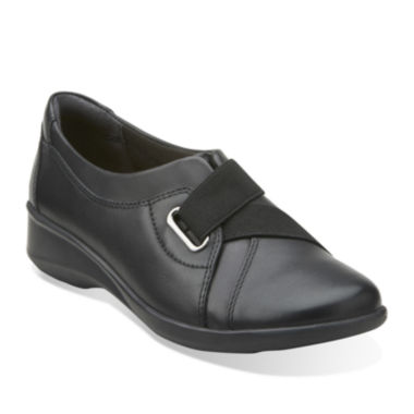 Clarks® Gael Nicole Leather Slip-On Shoes