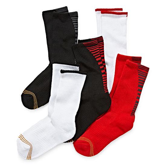 Gold Toe 5 Pk Ultra Tec Crew Socks Boys