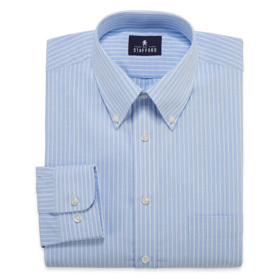 Stafford® Travel Wrinkle-Free Oxford Long-Sleeve Dress Shirt