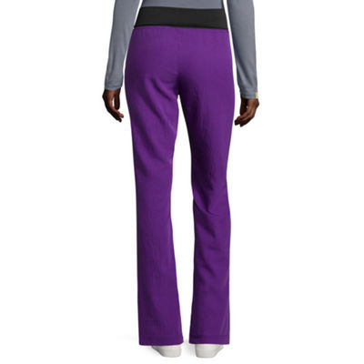 Wonderwink® Four-Stretch 5514 Womens Fold-Over Waist Pants -Petite & Petite Plus