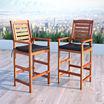 Miramar Bar Height Patio Chairs - Set of 2