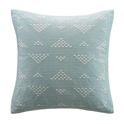 INK+IVY Cario Square Embroidered Decorative Pillow
