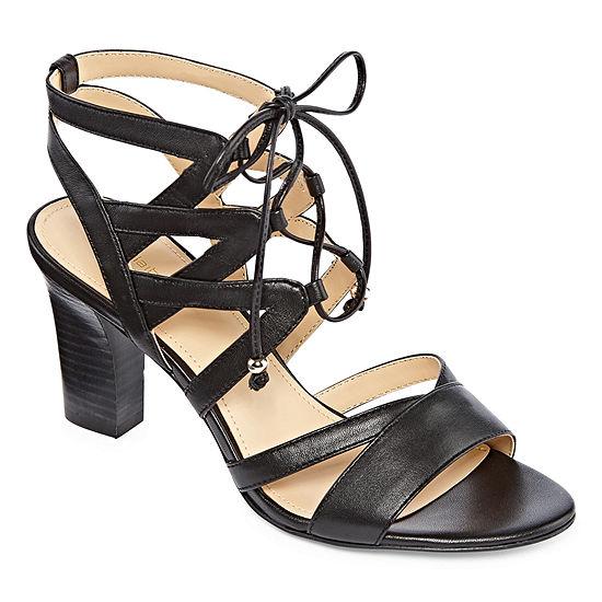 Liz Claiborne Womens Tamara Leather Heel