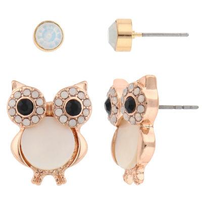 Decree 2-pc. Clear Earring Sets