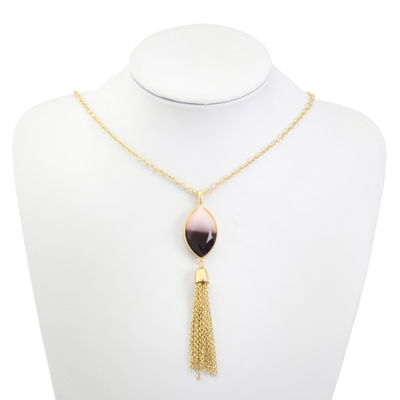 Liz Claiborne Womens Purple Pendant Necklace