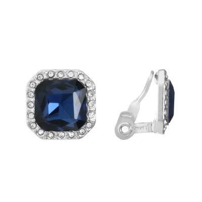 Monet Jewelry Blue Clip On Earrings