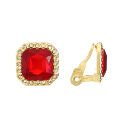 Monet Jewelry Red Clip On Earrings