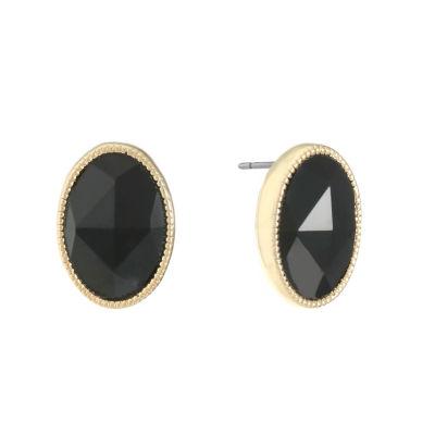 Monet Jewelry Black 16mm Stud Earrings