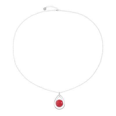 Liz Claiborne Womens Red Pendant Necklace
