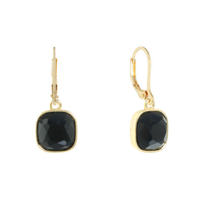Monet Jewelry Black Simulated Pearl Drop Earrings