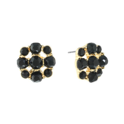 Monet Jewelry Black Stud Earrings