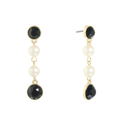 Monet Jewelry Multi Color SIMULATED PEARLS Drop Earrings