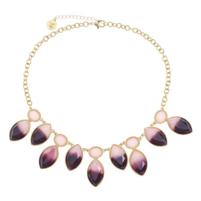 Liz Claiborne Purple Statement Necklace