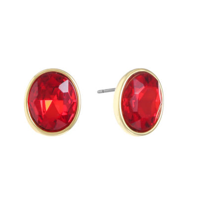 Monet Jewelry Red Stud Earrings