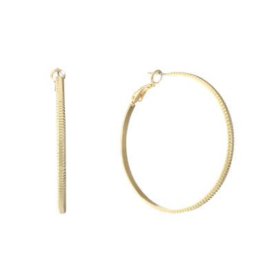Liz Claiborne 49mm Hoop Earrings