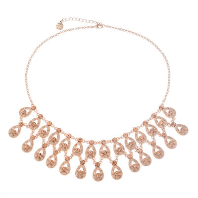 Monet Jewelry Womens Pink Statement Necklace