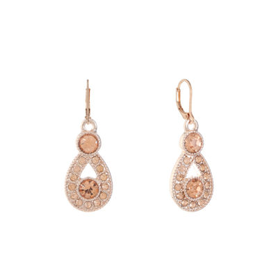 Monet Jewelry Pink Drop Earrings