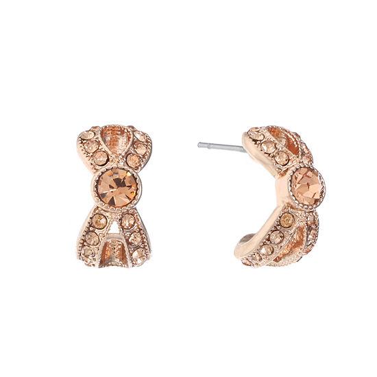 Monet Jewelry 1 Pair Pink Hoop Earrings