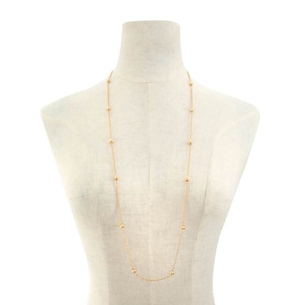 Liz Claiborne Liz Claiborne Womens Gray Strand Necklace