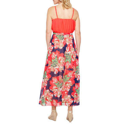 Robbie Bee Sleeveless Floral Maxi Dress