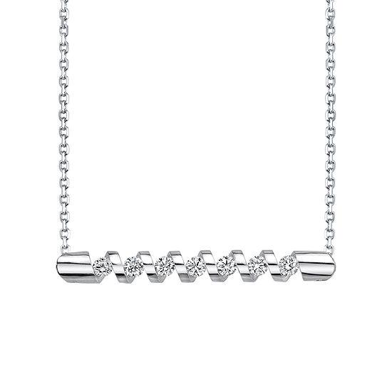 Womens 1/4 CT. T.W. Genuine White Diamond 14K Gold Pendant