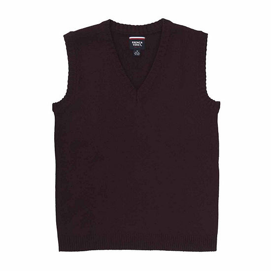 French Toast Vneck Sweater Vest Boys Big Kid