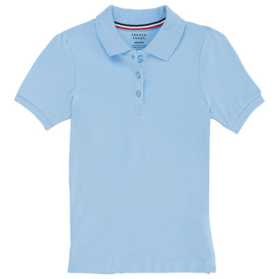 French Toast Short Sleeve Pique Polo - Preschool Girls