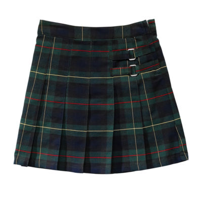 French Toast Plaid Two-Tab Scooter Girls Short Scooter Skirt