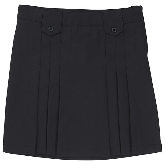 French Toast Front-Pleated Tab Skirt - Girls 4-20 and Plus
