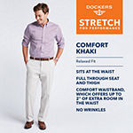 Dockers® Men's Relaxed Fit Comfort Khaki Cuffed Pants - Pleated D4