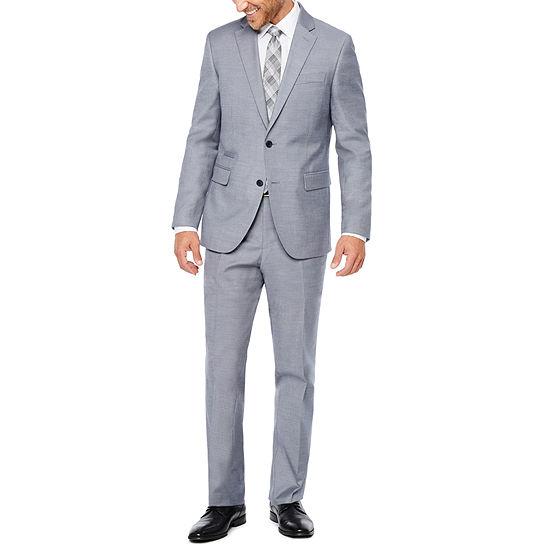 becfaea9eaf JF J. Ferrar Blue Gray Sharkskin Suit Separates-Slim - JCPenney