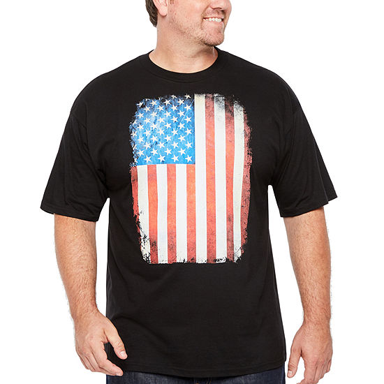 Mens Short Sleeve Graphic T-Shirt-Big and Tall