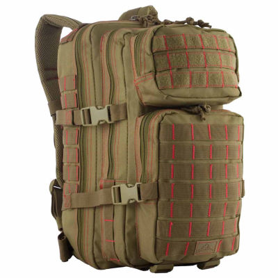 Red Rock Outdoor Gear Rebel Assault Pack - Coyotew/Red Stitching