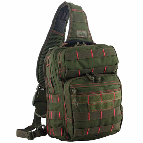 Red Rock Outdoor Gear Rover Sling Pack - Olive Drab w/Red Stitching