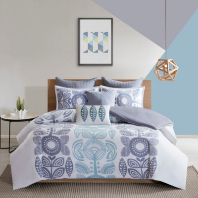 Urban Habitat Teo Cotton Printed 7-pc. Duvet Cover Set
