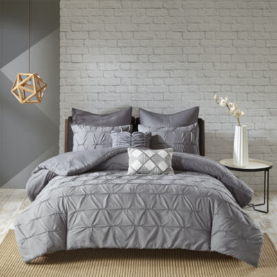 Urban Habitat Cullen Elastic Embroidery 7-pc. Duvet Cover Set