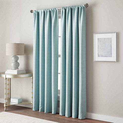 Pixel Wave Rod-Pocket Curtain Panel