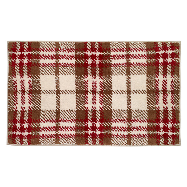 Avanti Hunter Plaid Bath Rug