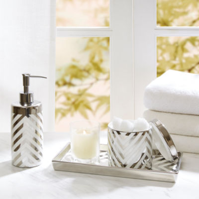 Madison Park Silver Chevron 3-pc. Bath Accessory Set