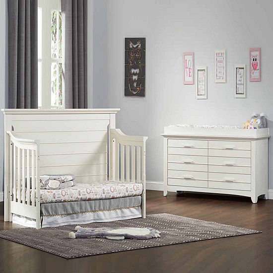 Olzo Baby Crestwood 2 Pc Furniture Set Oyster White