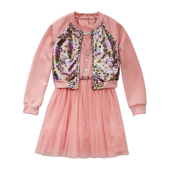 Knit Works Big Girls 2-pc. Jacket Dress