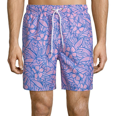 "Arizona 6.5"" Printed Swim Shorts, Xx-large , Purple"