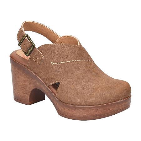 70s Shoes, Platforms, Boots, Heels | 1970s Shoes Boc Womens Cecila Clogs 10 Medium Brown $51.99 AT vintagedancer.com