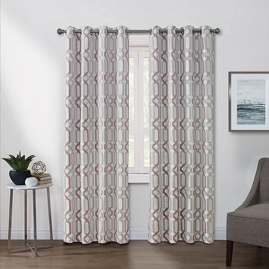Regal Home Walker Light-Filtering Grommet Top Single Curtain Panel