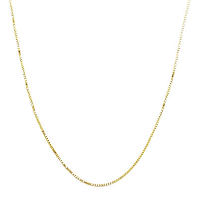 "Made in Italy 14K Yellow Gold 18"" Semi-Solid Box Chain"