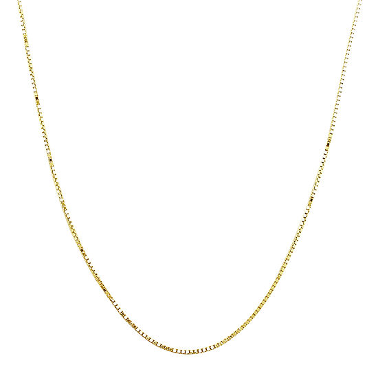Made In Italy14k Yellow Gold Semi Solid Box Chain