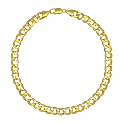 """10K Yellow Gold 22"""" Hollow Curb Chain"""